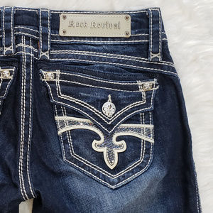 Rock Revival Heather Boot Dark Wash Jeans 28